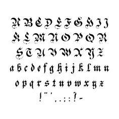 Gothic Lettering, Graffiti Lettering Fonts, Gothic Fonts, Tattoo Lettering Fonts, Lettering Design, Gothic Script, Vintage Fonts Free, Graphics Vintage, Vintage Logos