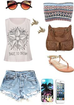 """""""Summer nights """" by pureeice ❤ liked on Polyvore"""