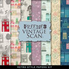 Far Far Hill: Freebies Retro Style Paper Kit