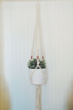 Macrame Plant Hanger Hanging Planter Copper Plant by freefille