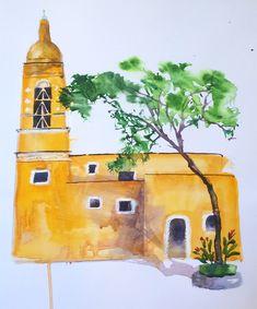 Watercolour on paper by Scott Jessop.