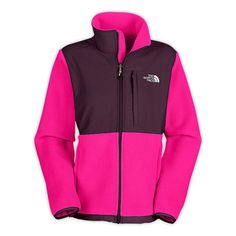 Womens The North Face Denali Fleece Jacket Razzle Pink - Click Image to Close