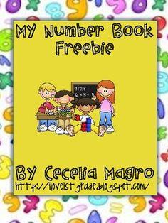 My Number Book Freebie