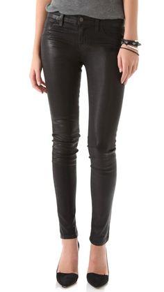 """J Brand - """"901"""" Waxed Legging Jeans - for the inner rocker in every girl."""