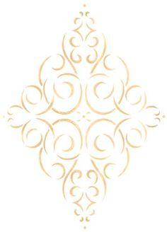 Simple Diamond Medallion | Designer Stencils