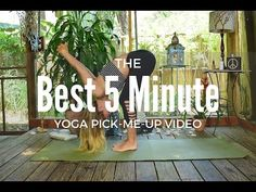 The BEST 5 Minute Yoga Pick-Me-Up Video - The Journey Junkie