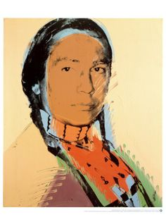 The American Indian By Andy Warhol: Category: Art Currency: GBP Price: Retail Price: Brown Pop Art Neutral Figurative… Andy Warhol Pop Art, Andy Warhol Portraits, Andy Warhol Museum, American Indian Art, Native American Art, American Artists, American Indians, Power Pop, Pittsburgh