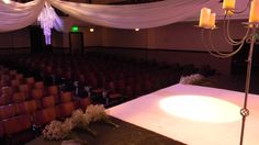 A Wedding in the Courtroom Theater is able to seat up to 427.