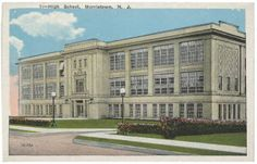 Morristown High School, early 20th century after 1916, Morristown, NJ :: The New Jersey Postcard Collection