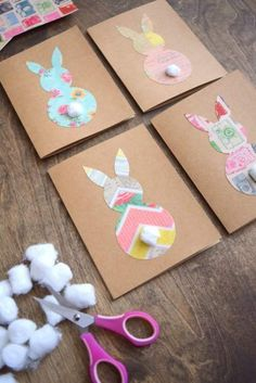 Learn how to make easy and cute Easter Bunny cards using vintage themed card stock, cotton balls and Mod Podge. Easter Learn how to make easy and cute Easter Bunny cards using vintage themed card stock, cotton balls and Mod Podge. Cute Easter Bunny, Easter Art, Easter Crafts For Kids, Easter Funny, Easter Decor, Bunny Crafts, Easter Eggs, Easter Garland, Easter Centerpiece