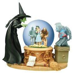 Wizard of Oz Wicked Witch Crystal Ball Water Globe - Westland Giftware - Wizard of Oz - Snow Globes at Entertainment Earth Wizard Of Oz Witch, Wicked Witch, Evil Witch, Water Globes, Snow Globes, Aladdin Musical, Disney Snowglobes, Westland Giftware, Over The Rainbow
