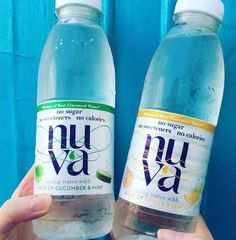 Free Bottle of NUVA Healthy Flavoured Water, tastes delicious! #healthy