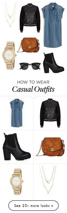 """casual shirtdress"" by hoe-no on Polyvore featuring J.Crew, rag & bone, Gabriella Rocha, DKNY and shirtdress"