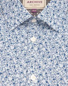 Floral and stripe print shirt - Blue | Shirts | Ted Baker UK - Men's Fashion