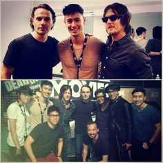Backstage & onstage with The walking Dead Cast George Young, Walking Dead Cast, Backstage, It Cast