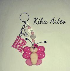 Chaveiro borboleta de biscuit  Aceitamos cartão de crédito  Aceitamos encomendas. Loja Kika Artes.