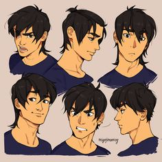 Hair and facial expressions with Keith Kogane #keith #voltron #voltronkeith