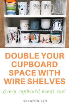 Friends Don't Let Friends Have Cupboards Without Wire Shelves!