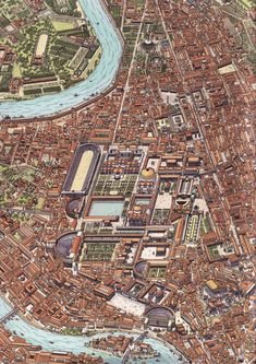 The Champ de Mars, Rome during the imperial era. - The Champ de Mars, Rome during the imperial era. Roman Architecture, Historical Architecture, Ancient Architecture, Historical Maps, Ancient Rome, Ancient History, European History, Ancient Aliens, Ancient Greece