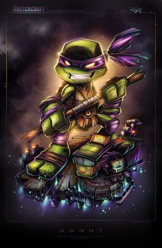 pixalry:  Teenage Mutant Ninja Turtles!- Created byRob Duenas You can receive these prints by backing Rob on his Kickstarter! You can also follow him onTumblr|Twitter|Website
