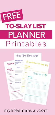 Grab the To Free Slay List Daily Goal Planner Printables. It is perfect for organizing your day for maximum productivity and better time management. Prioritize your top 3 goals for the day so you will feel accomplished no matter what, organize the rest of your tasks by scheduling it Grab it now. #planner #freeplanner #printableplanner #goals #toslay #todolist #topgoals #freeprintables #productivity #timemanagement Goals Planner, Free Planner, Printable Planner, Free Printables, Planner Organization, Organizing, Good Time Management, Personal Planners, Daily Goals