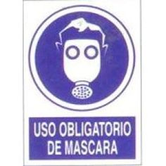 Señal Uso Obligatorio de Mascara - http://www.janfer.com/es/obligacion/611-senal-uso-obligatorio-mascara.html