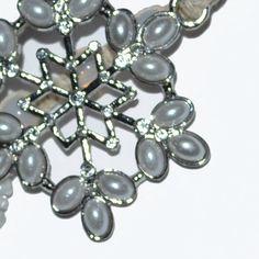 Ice Snowflake Pearl & Crystal HandBeaded by BlingThingsOriginals, $18.00