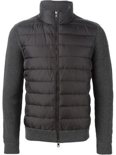 012f362e44a1 Moncler Padded Panel Knitted Jacket - Jofré - Farfetch.com