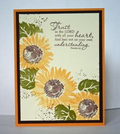 Sunflower Trust by annascreations - Cards and Paper Crafts at Splitcoaststampers