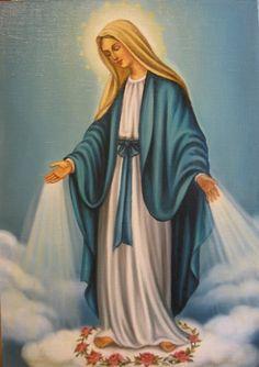 Дева Мария Непорочного зачатия (холст,масло)-художник Ядвига Сенько