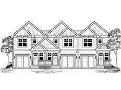 house front color elevation view for d 444 corner lot bi level house remodel centerville homes floor plans