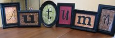 BLACK FRAMES + SCRAPBOOK PAPER WITH DIFFERENT FONTS/LETTERS = ENDLESS POSSIBILITIES!!  YOU COULD DO THIS WITH YOUR FAMILY'S LAST NAME, ALSO!!