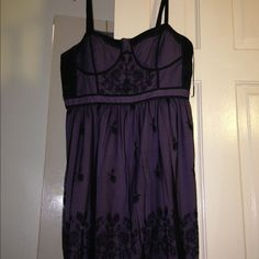 Purple dress Purple dress w/ black lace. Great condition American Eagle Outfitters Dresses