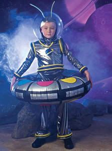 How to make a spaceship costume -- boy wearing spaceship costume