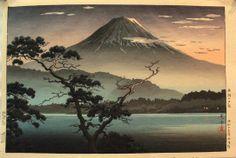 Koitsu Tsuchiya - Sunset, Mt. Fuji from Lake Seiko