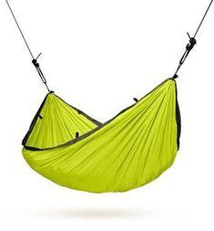 LA SIESTA Colibri Green Parachute Silk Single Travel Hammock with Integrated Suspension ** Click image for more details.