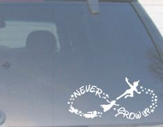 0183 - Never Grow Up Car Decal, or this!