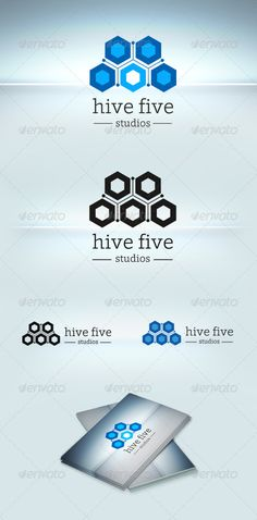 Hive Five Logo Template  #GraphicRiver            Features:     Easy 8 Letter Unique Name