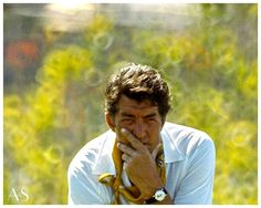 Dean Martin - he is missing his cigarette and drink in his hand. I remember watching his show as a kid with my mom and dad and he always was smoking  and had a mixed drink. Back in the 60's & 70's it was very common for people to drink and smoke on the set especially on the variety shows since most of them were filmed live towards the evening.