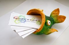 Polymer Clay Fish Business Card Holder - by Russian artist Tvoi Sekret