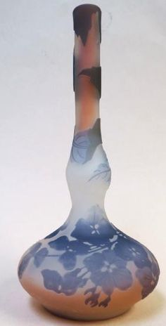 """Galle - Cameo Glass vase H: 6.5"""" Authentic!"""