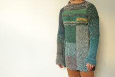 Free shipping! Handmade oversized unisex wool sweater by TASSSHA on Etsy