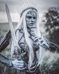 "6,261 Likes, 81 Comments - Wearable Art Designer (@posh_fairytale_couture) on Instagram: ""❄️❄️White Walker Queen❄️❄️ SFX Makeup, costume: @posh_fairytale_couture / Photography:…"""
