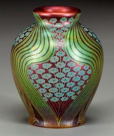 """ Zsolnay art nouveau ceramic cabinet vase.c.1900"