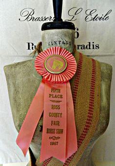 Little vintage horse show ribbon. $14.50, via Etsy.