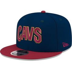 size 40 50c7b a83cc Men s Cleveland Cavaliers New Era Navy Wine Two-Tone 9FIFTY Adjustable Hat,  Your Price   27.99
