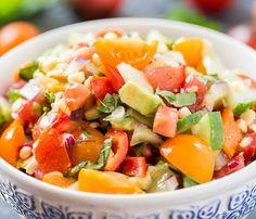 Овощной салат с авокадо 6