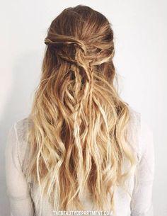 thebeautydepartment hair tutorial messy hair