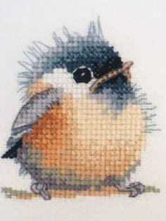 Heritage 27 Ew Chickadee Little Friends Animals Birds Cute Cross Stitch Kit
