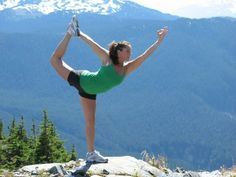 yoga on a mountain. yes, please.